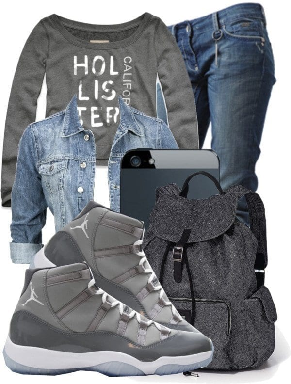 2500d2bc15c830 30 Cute Outfits Ideas to Wear with Jordans for Girls Swag