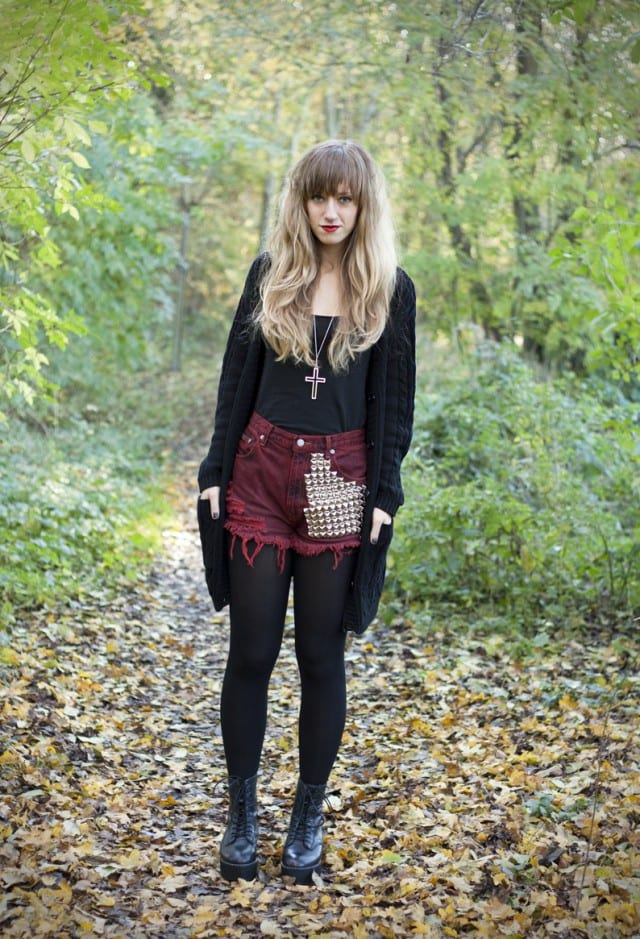 cute outfits to wear with platform boots (6)