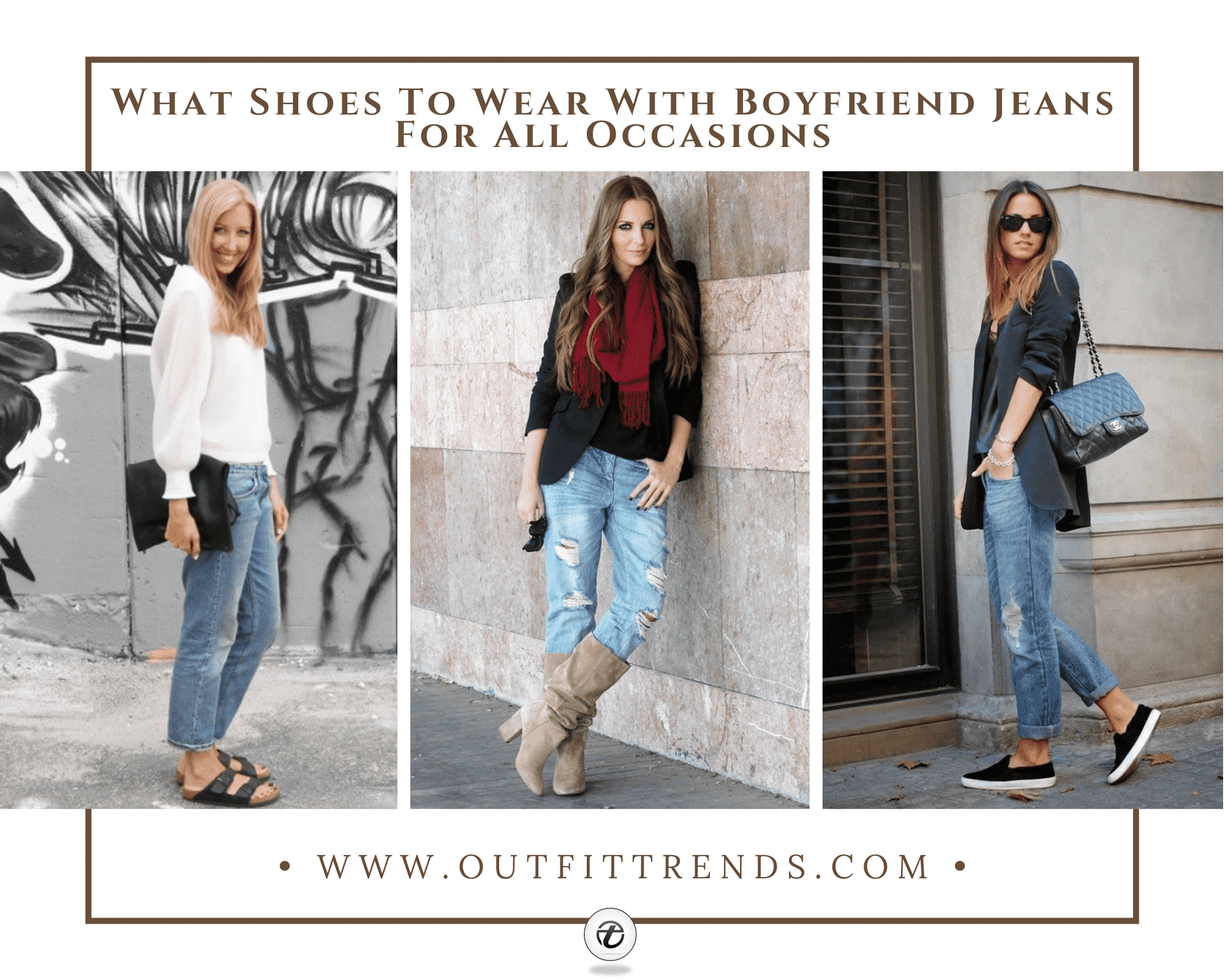 30 Best Shoes to Wear With Boyfriend Jeans For a Chic Look