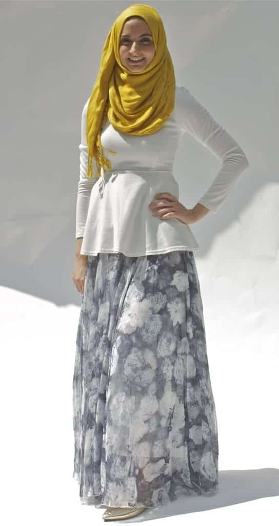 hijab with maxi dress and Skirt (9)