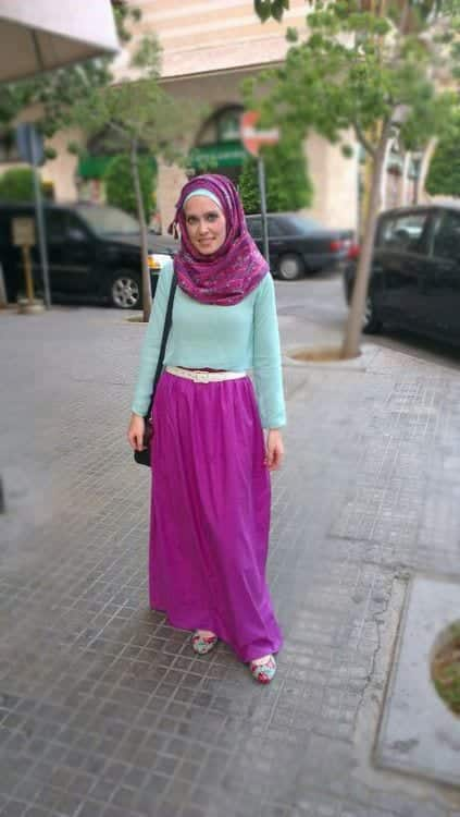 hijab with maxi dress and Skirt (7)