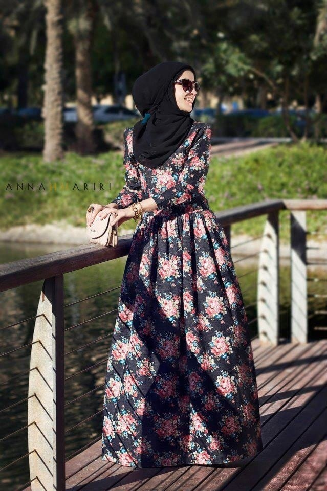 45dd6600346b Hijab Maxi Style -20 Chic Ways To Wear Hijab With Maxi dress