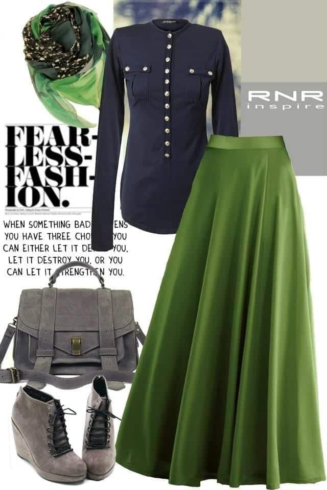 Hijab Maxi Style -20 Chic Ways To Wear Hijab With Maxi dress