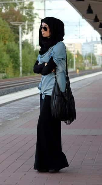 hijab with maxi dress and Skirt (4)