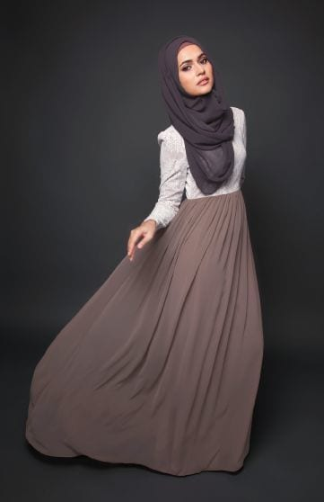 hijab with maxi dress and Skirt (2)