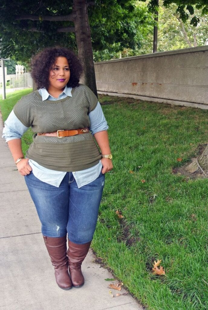 20 Stylish High School/ College Outfits for Curvy Girls
