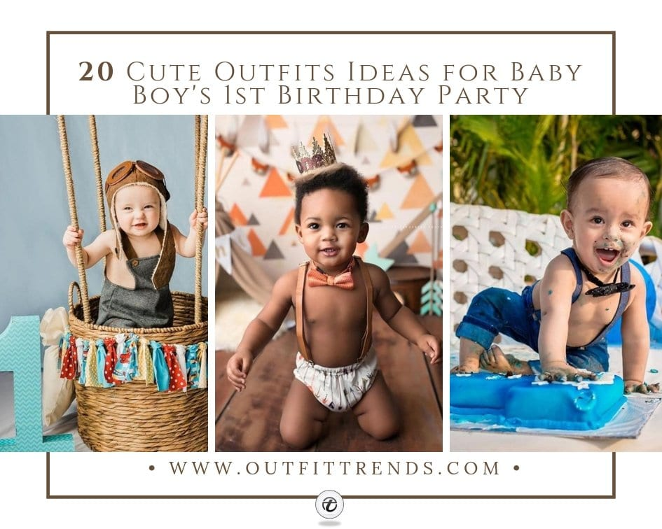 da2dd4ed 20 Cute Outfits Ideas for Baby Boys 1st Birthday Party