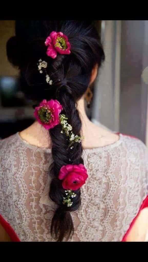 cute Bridal Mehndi Hairstyles (3)