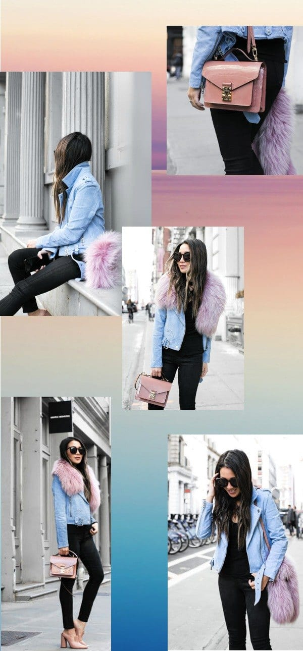how to wear pastel outfits with black