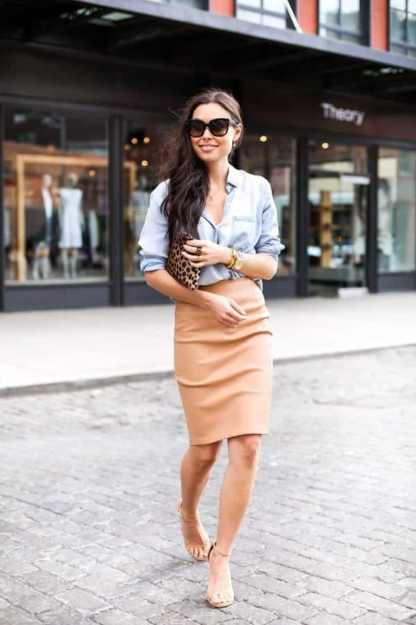 cute outfits combinations with pencil skirts