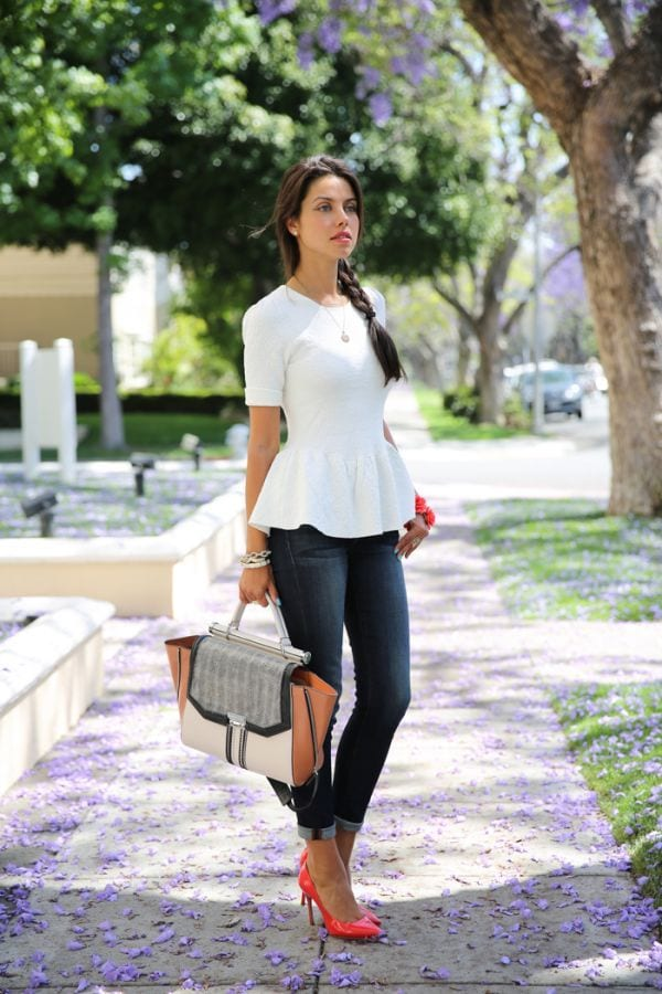 peplum top casual outfits summer