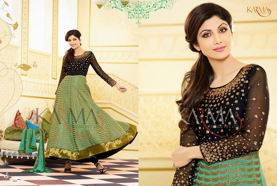 Stylish Indian Shilpa Shetty Eid Wear Collection 2017