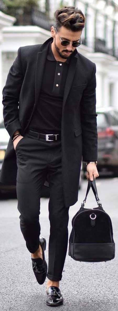 all black men street style