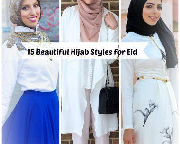 latest eid hijab styles