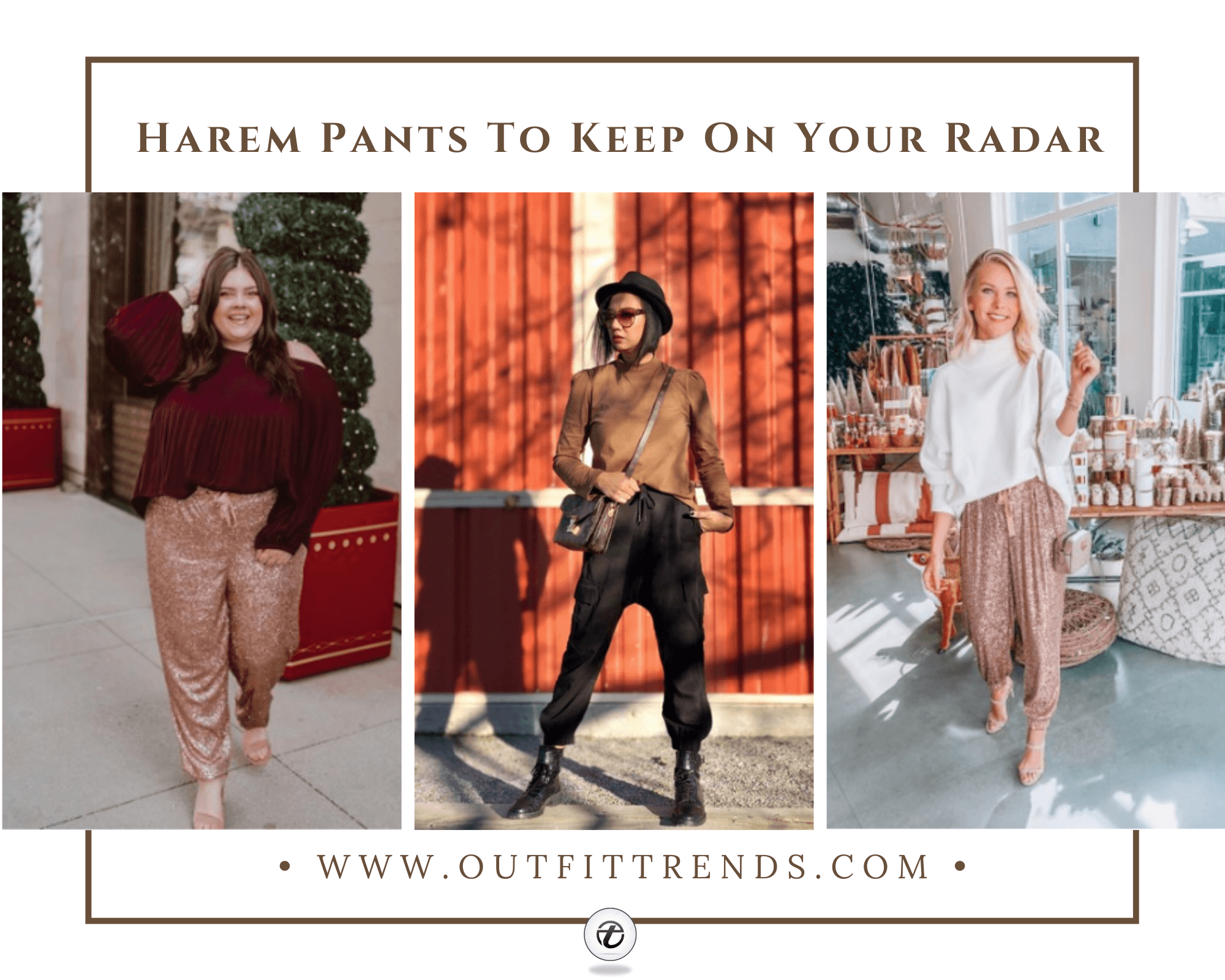 Harem Pant Outfits-25 Ideas On What To Wear With Harem Pants