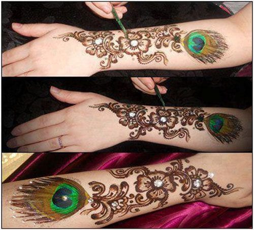 Eid mehndi designs 20 cute mehdni designs for hands am loving how this symbol has been incorporated in this mehndi design if you are good at painting or have a steady hand you can easily do this yourself solutioingenieria Image collections