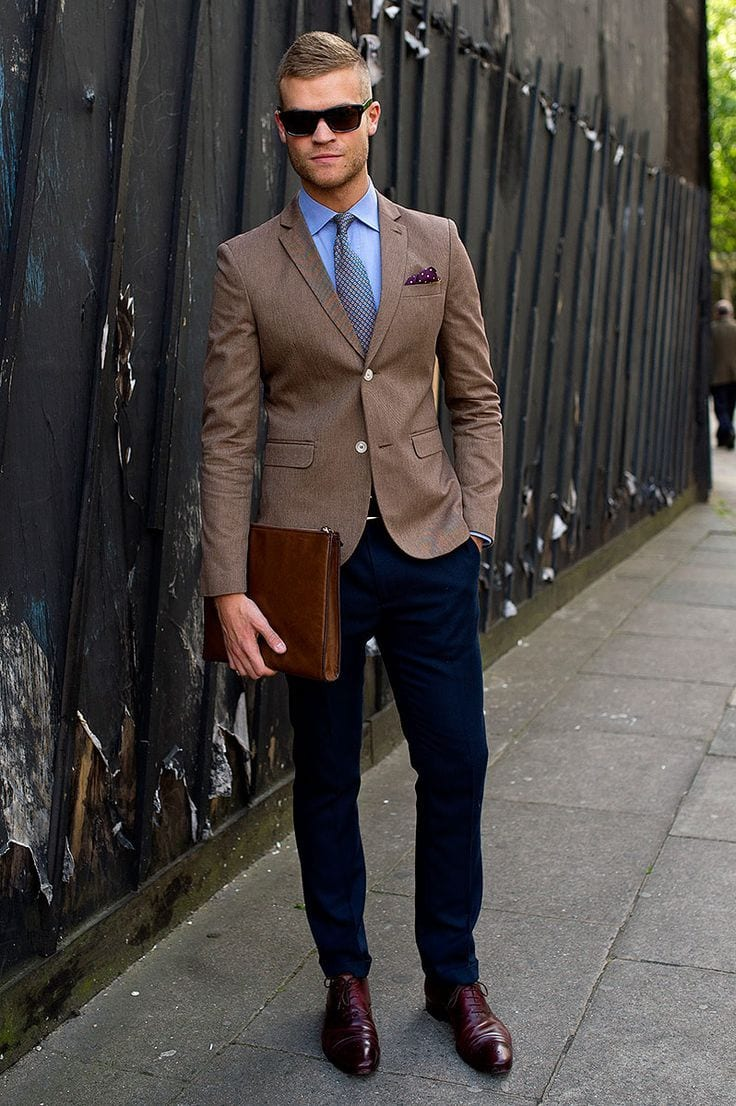 Men's Outfits To Wear with Oxford Shoes-27 New Trends images