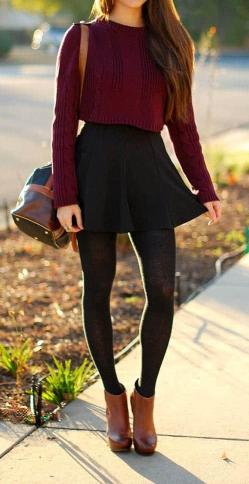 7c7b84460 Footwear with Tights ? 14 Ideas Shoes to Wear with Tights