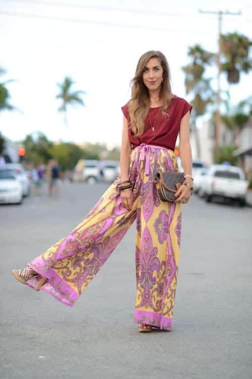 Wide Leg Pants With Flat Shoes