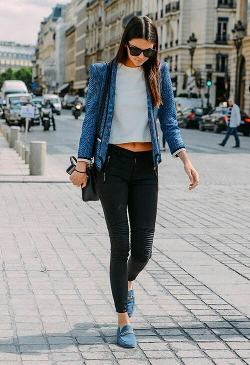cute outfits to wear with loafers 3