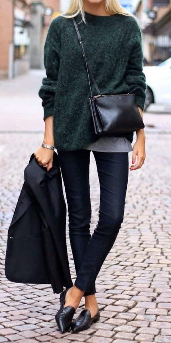 cute outfits to wear with loafers 7