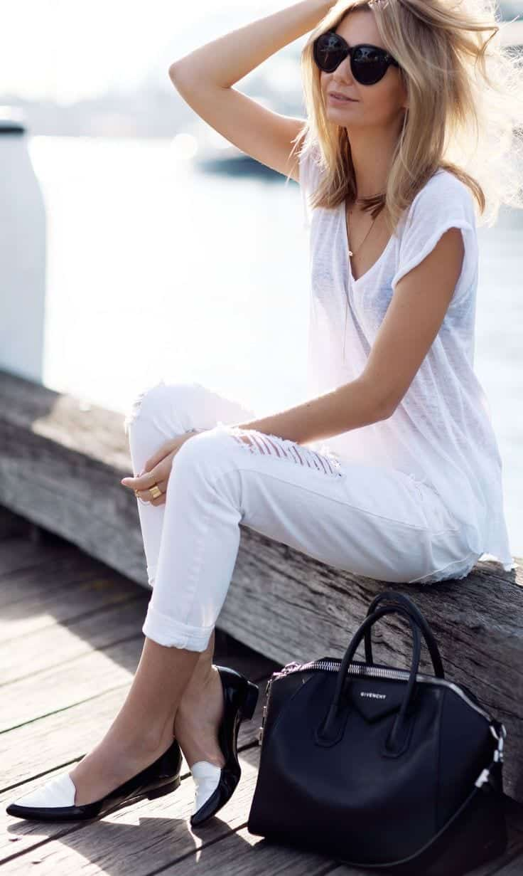 cute outfits to wear with loafers 9