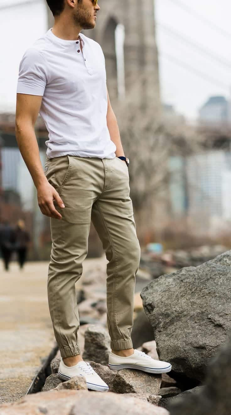 Men Khaki Pants Outfits 30 Ideal Ways To Style Tendencies Navy Chinos Short Khakhi Outfit Ideas2