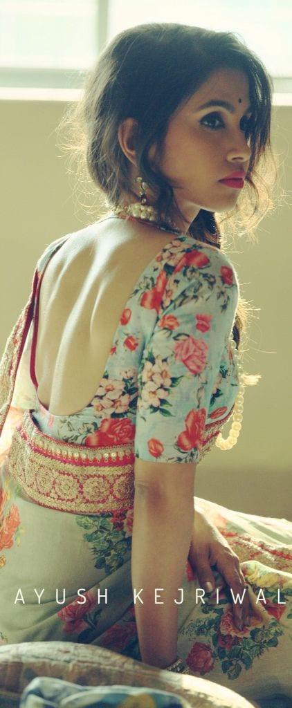 saree blouse design15