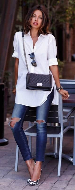 17 Best Women Outfits with White Shirt-Pairing Style Ideas