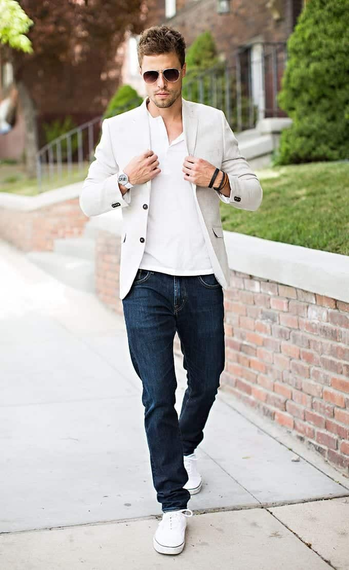 Men White Shirt Outfits-15 Ways to Wear White Button Down ...