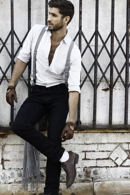brilliant outfits for men with suspenders women