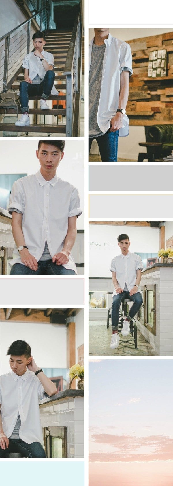 men white shirt outfits