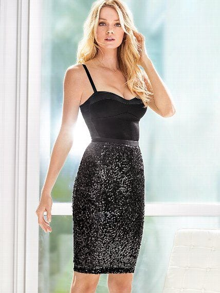 sequins pencil skirts