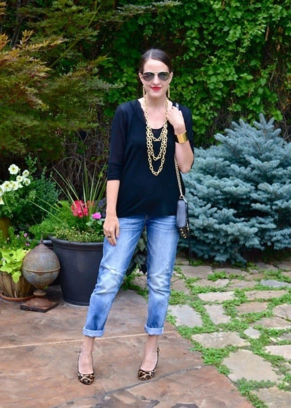 women over 40 boyfriend jeans