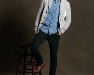 Men corduroy pants outfits (10)