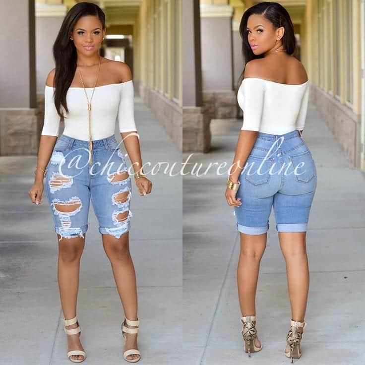 0b37c0b7e72c 20 Cute Bermuda Short Outfits for Girls for Chic look