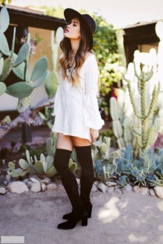 Western-Fashion-Knee-High-Socks-With-Dress-2015-5