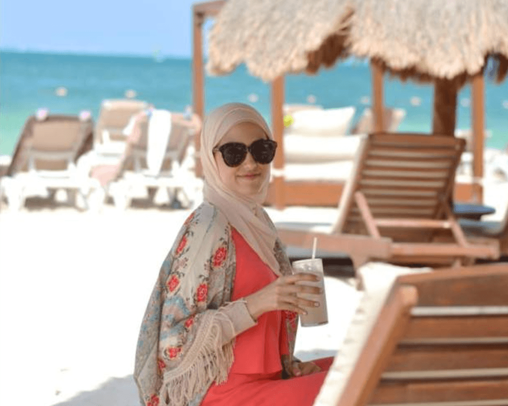beach accessories with hijab