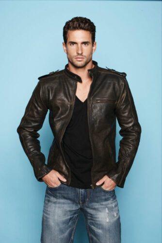 dark-brown-leather-bomber-jacket-black-v-neck-t-shirt-blue-jeans-original-9983