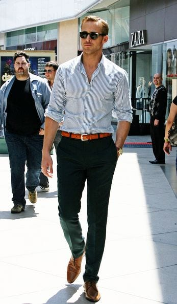men outfits with brown dress shoes 3