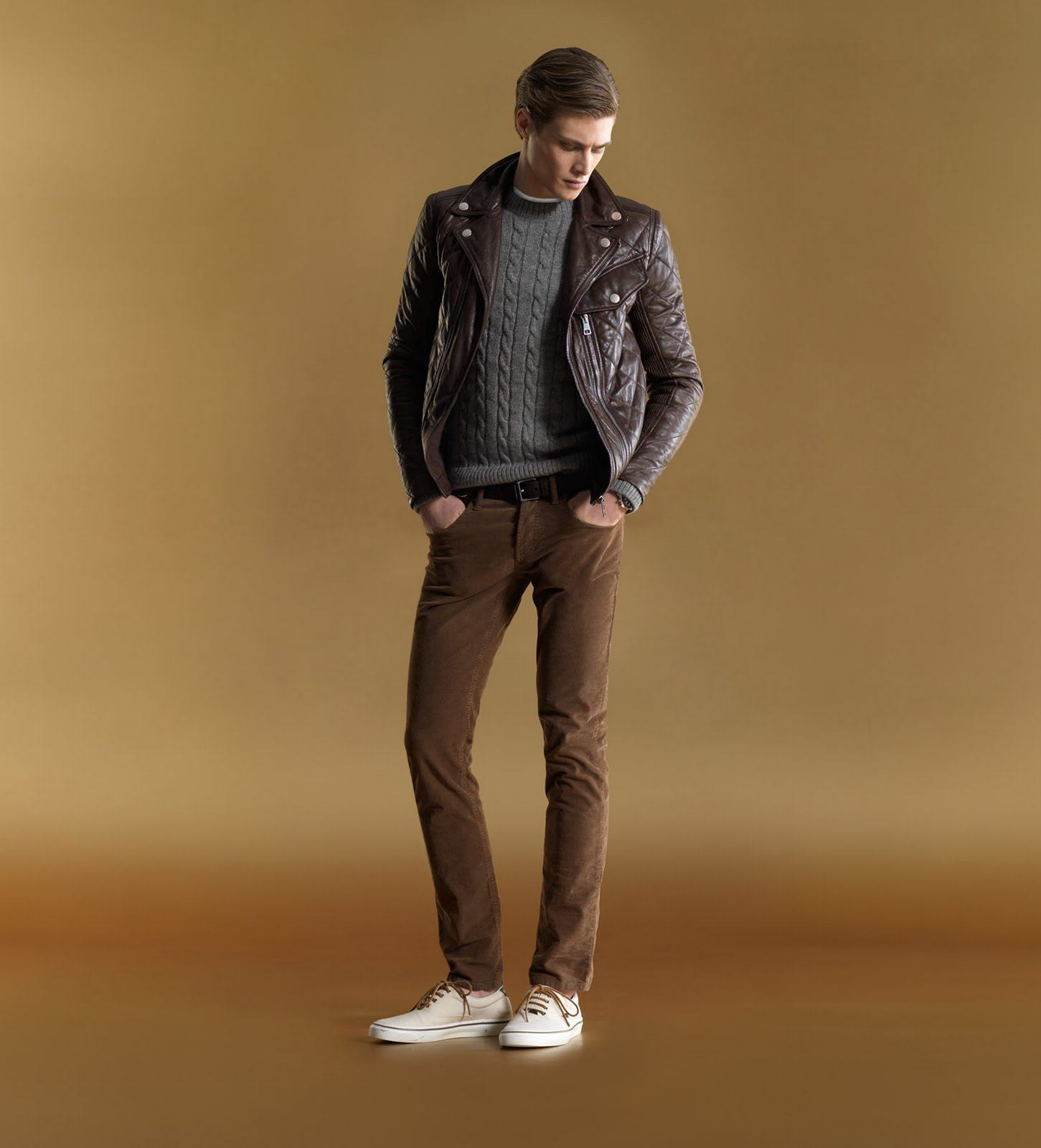Brown Light pants men fashion pictures