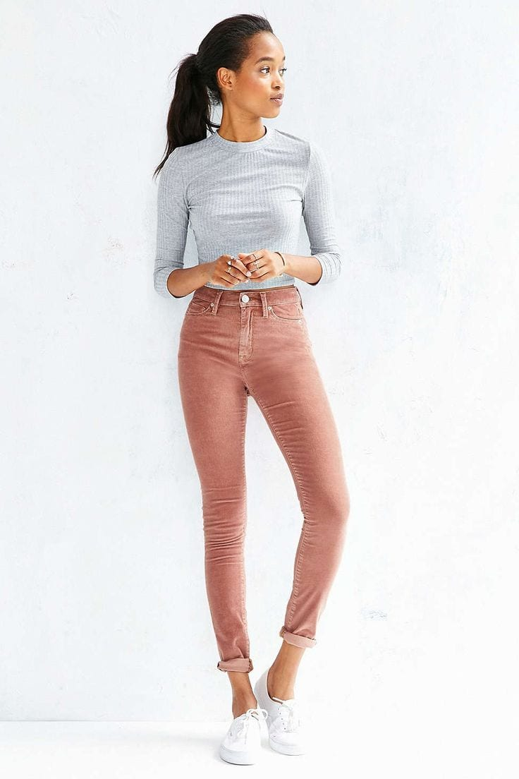 Corduroy pants style for women- 16 outfits for every women.