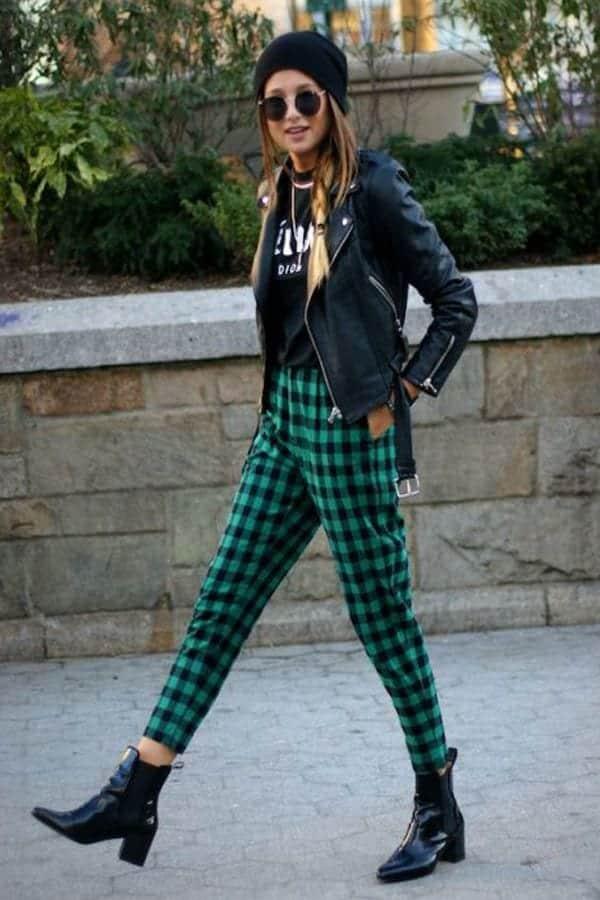 tartan outfits  women  ways  wear tartan fashionably