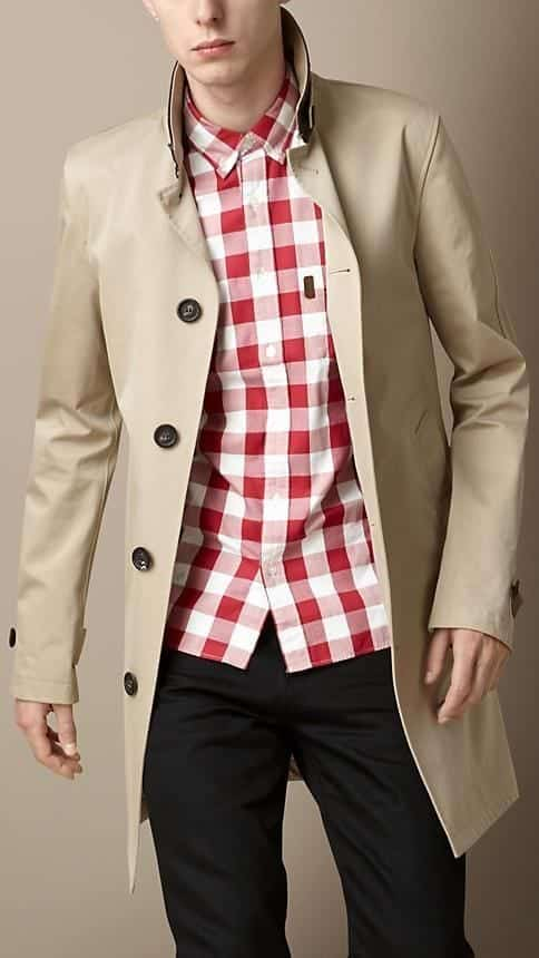 Male Check Shirt Style 13
