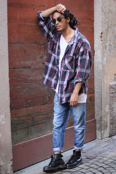 Male Check Shirt Style 17
