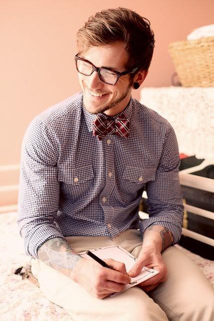 Male Check Shirt Style 2