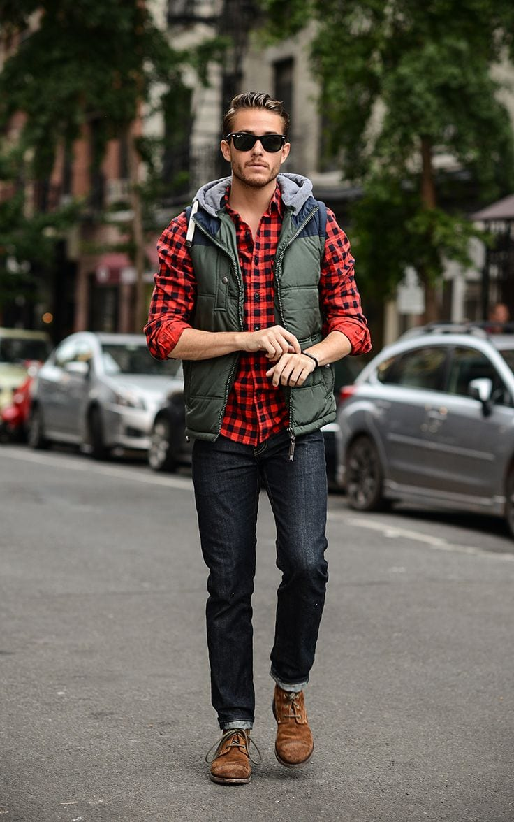 Male Check Shirt Style 3