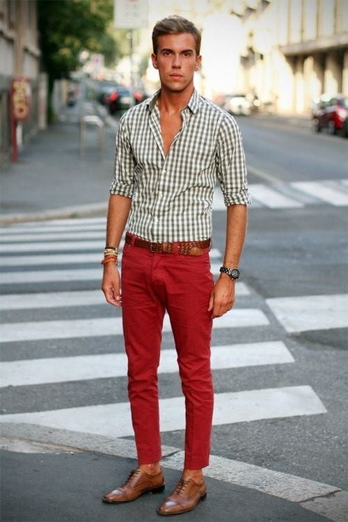 Male Check Shirt Style 6