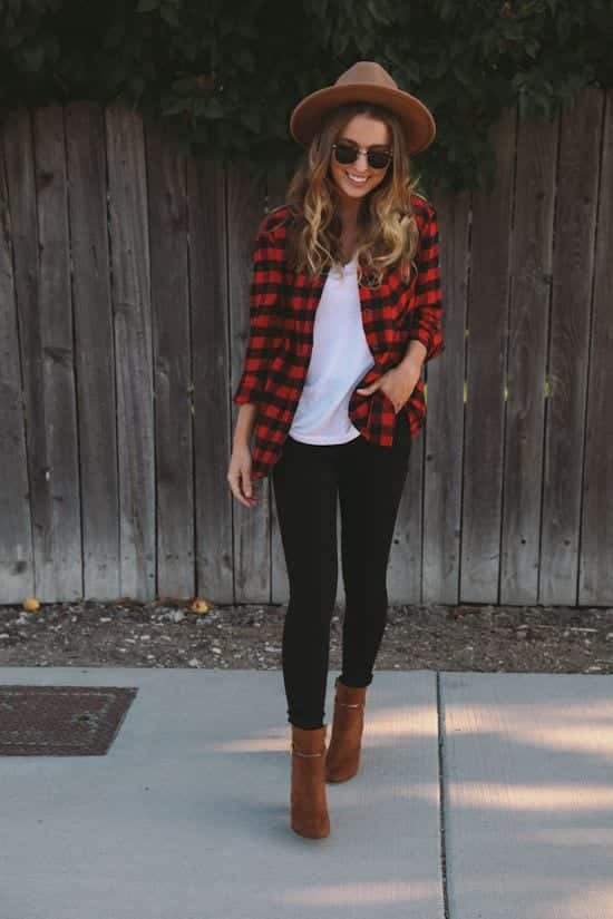 Plaid Womens Shirt