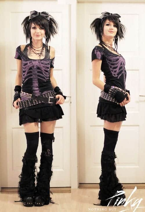 fancy cute punk outfit